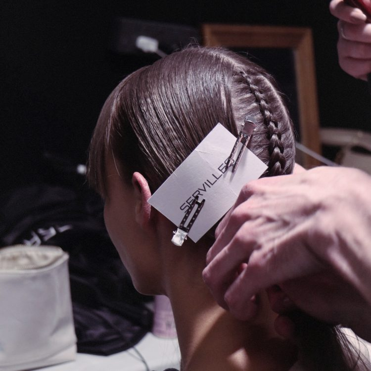 Servilles braided hairstyle at NZFW 2018