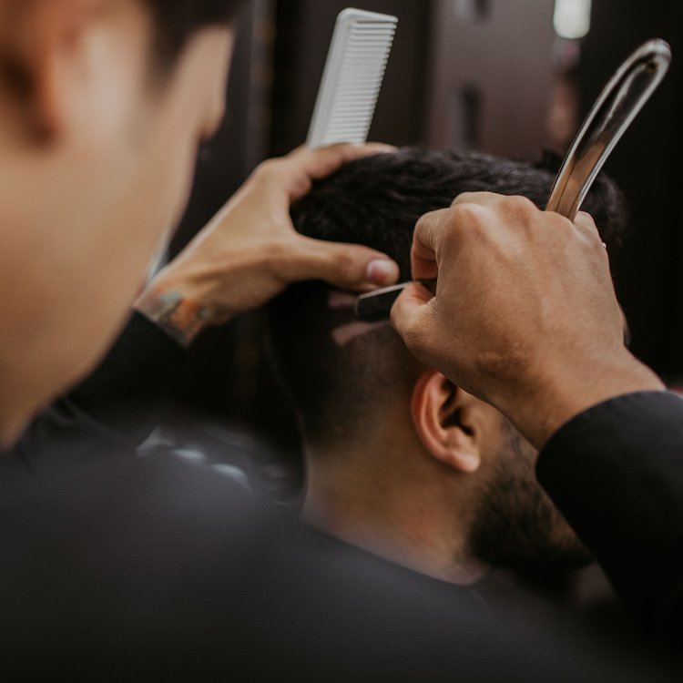 Barbering student creates the perfect fade