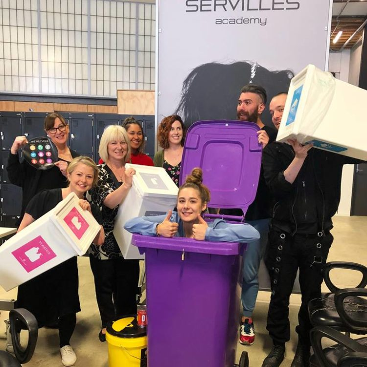 Servilles Academy staff pose with sustainable salons