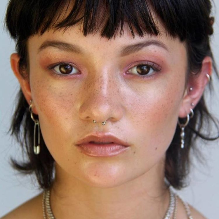 Fresh, dewy makeup by makeup student