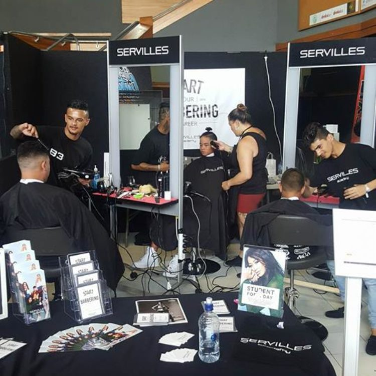 BarberCraft with Servilles barbering students