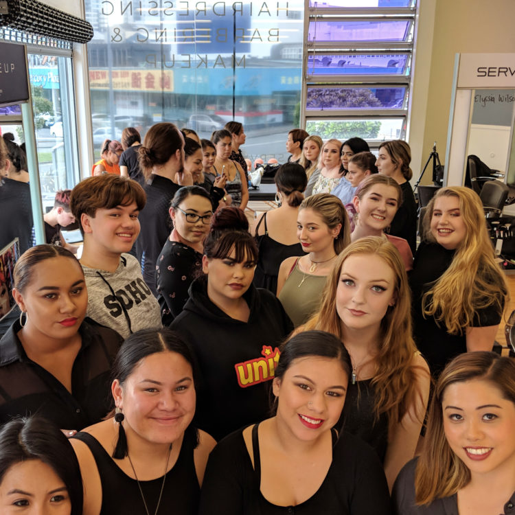 Makeup students at Servilles Academy