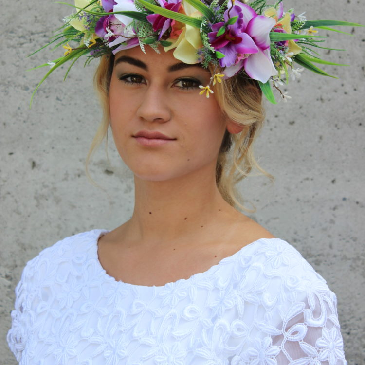 Bridal look by Servilles Academy student