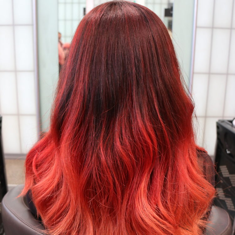Fiery red hair at the Servilles Academy Salon