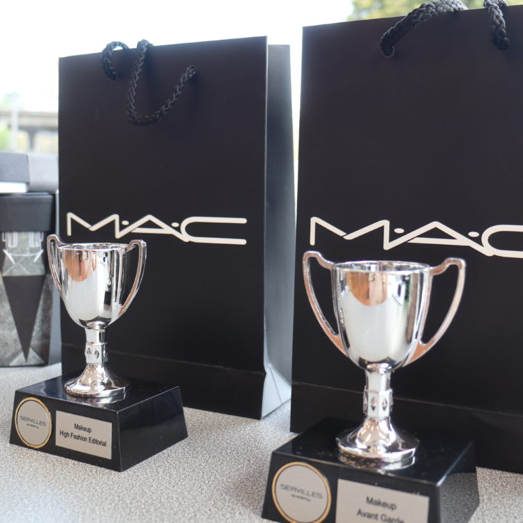 Makeup prizes with mac bags