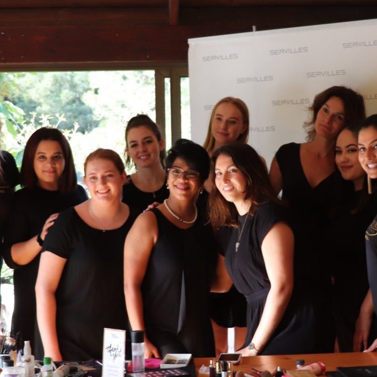 Makeup students at the 'Empower Me' workshop