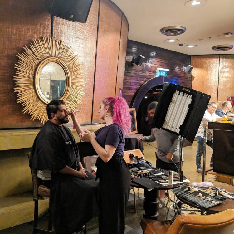 Makeup Students work on Charity show at Sky City
