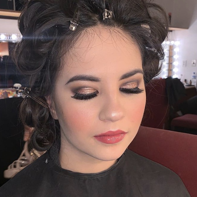 Glam makeup at Miss Asia Pacific International NZ