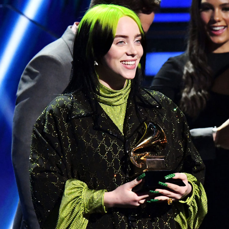 Billie Eilish accepts grammy awards show 2020