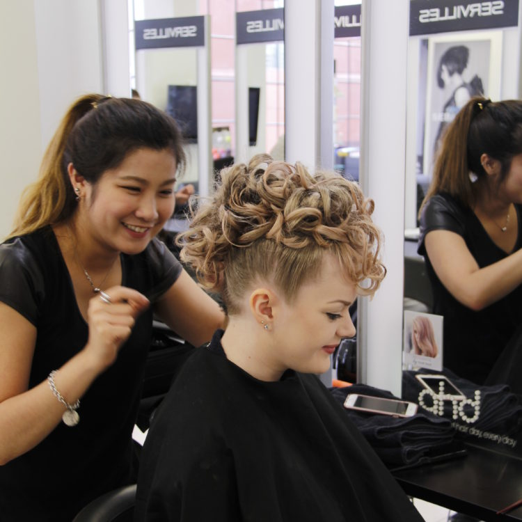 Hair student creates intricate hairstyle
