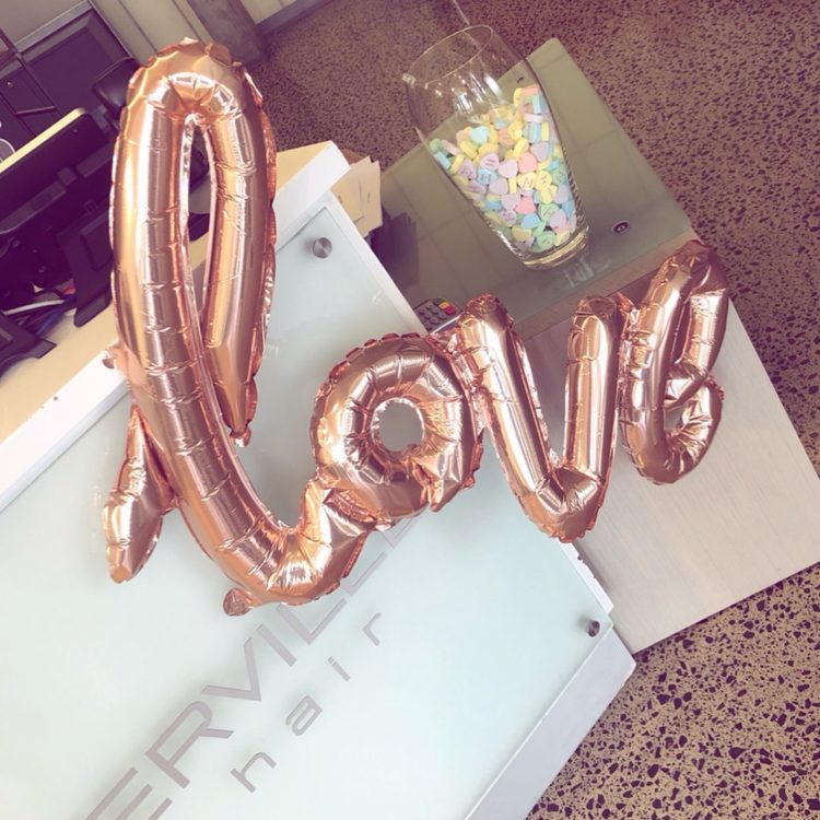 Valentine's Day love lovehearts salon auckland hairdressing