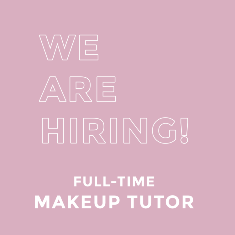 We are hiring makeup tutor